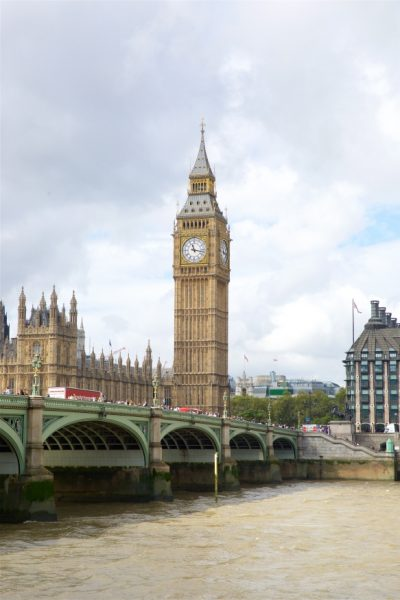 A view of Big Ben across Westminster Bridge