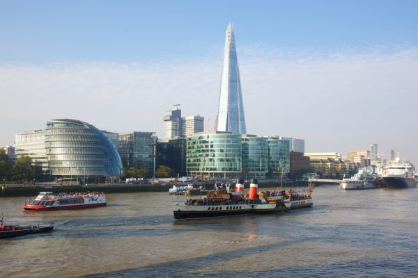 A view of London across the Thames.